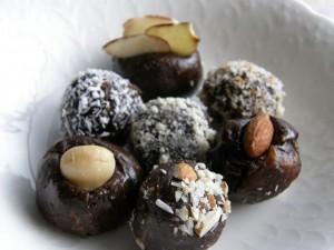 carob peanut-butter balls